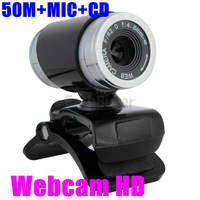2014 New HD 50M   2.0 HD Webcam Camera Web Cam Digital Video Webcamera with Microphone MIC for Computer PC Laptop free shipping