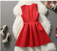 Clothing wood 2015 spring and summer women's chiffon one-piece dress plus size sleeveless red tank dress long dresses lg0003