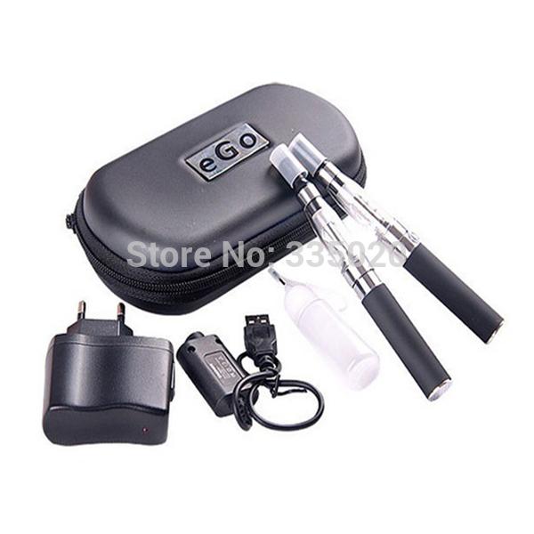 eGo CE4 Double Electronic Cigarette Starter Kits 650mAh 900mAh 1100mAh eGo-T Battery with CE4 Atomzier eGo Zipper Kit(China (Mainland))