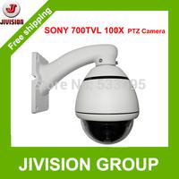 PTZ Camera 100X Sony CCD 700TVL PTZ Dome camera CCTV Mini high Speed Dome PTZ Camera Outdoor Waterproof ceilling wall mounted