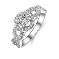 Vintage Style Victorian Art Deco 1/2 Ct CZ Simulated Diamond Twisted Ring (MATE R079)
