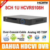 8ch Dahua HDCVI Analog HD DVR HCVR5108H 8 All Channel 720P Mini 1U Support 1 SATA HDD 1080p output iPhone, iPad, Android