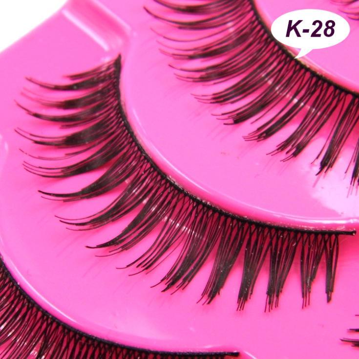 K-28 Japanese handmade natural tip the balance due five pairs of false eyelashes wholesale high quality(China (Mainland))