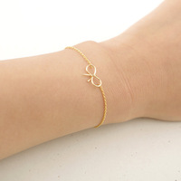 18K Gold Plated cute vintage Bow bracelet jewelry hand chain knot charm female Bracelets bangles