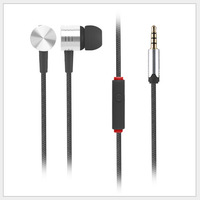 HOT SALE Best Price Metal Earphone Headphones With Mic For MP3/ iphone/samsung/HTC/Xiaomi Mobile Phone