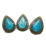 Retro Rings 2014 Rushed Wedding Bands Trendy Women Bezel Setting Acrylic SW Accessories Fashion Popular Vintage Stone Bohemian