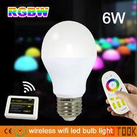 mi.light WIFI 2.4G RGB E27 6W LED Group Division Bulb RF Remote Control lamp indoor smart Bulb mi light 85~265V CE ROHS