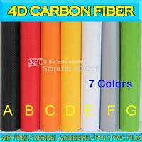 4D Carbon Fiber Film Glossy Carbon Fiber Foil Textured Vinyl Wrap air free bubble 1.52x30m