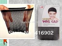 50pcs/lot  great density Stretchable Elastic Fishnet Wig Cap Hair Net Mesh Wig & Weave Cap closed 2  top