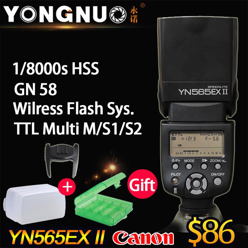 YONGNUO YN-565EX II,YN565EX II,GN58 TTL Flash Speedlite for Canon 6D 7D 5D Mar