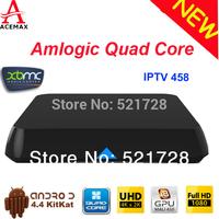 1pc Original ACEMAX M8N Amlogic S802 Quad Core  XBMC KODI TV Box Android 4.4 Kitkat 4K Dislay 2G&8G  Bluetooth 2.4G&5G WIFI HDMI