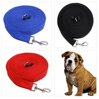 3 Colors Black Red Blue 50ft 15m Long Dog Pet Puppy Training Obedience Lead Leash