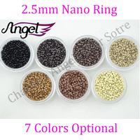 Charlie's Angels 100 jars 2.5mm Nano micro beads/rings/links RInglets Pre Bonded Nano Tip Tipped nano micro bead extensions