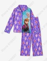 New Arrival 2015 Frozens Elsa&Anna Pajama Set Princess Clothing Sets Kids Clothing Snow Queen Children Nightie/Pyjamas
