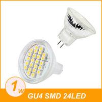 MR11 GU4 Warm White 24 SMD LED Office Spot Light Lamp Bulb Energy Saving 12V