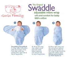 newborn baby swaddle wrap parisarc 100% cotton soft infant newborn baby products Blanket & Swaddling Wrap Blanket Sleepsack(China (Mainland))
