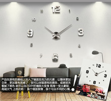 2014 home decor digital 3D diy clock morden design hours unique gift wall sticker single clock safe wall clock wall watch 12S005(China (Mainland))