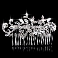 New Flower Shape Austria Crystal Wedding Tiara Handmade Shiny Bridal Hair Combs Jewelry