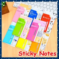 [FORREST SHOP] Paper Notepad / Cute Animal Sticky Memo Pad / Kawaii Post It Notes / Index Tabs Stickers (20 Set/Lot) FRS-204