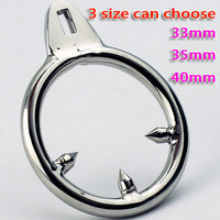 Male Chastity Device Cock Cages Additional Ring Stainless Steel Three Stab Anti Erection Anti-Shedding NEW ARRIVED
