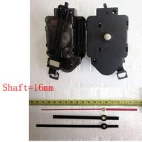 1set Luminous Quartz  Pendulum Clock Movement Kit Spindle Mechanism shaft 16mm Jump seconds tick sound mechanism  FREE SHIPPING