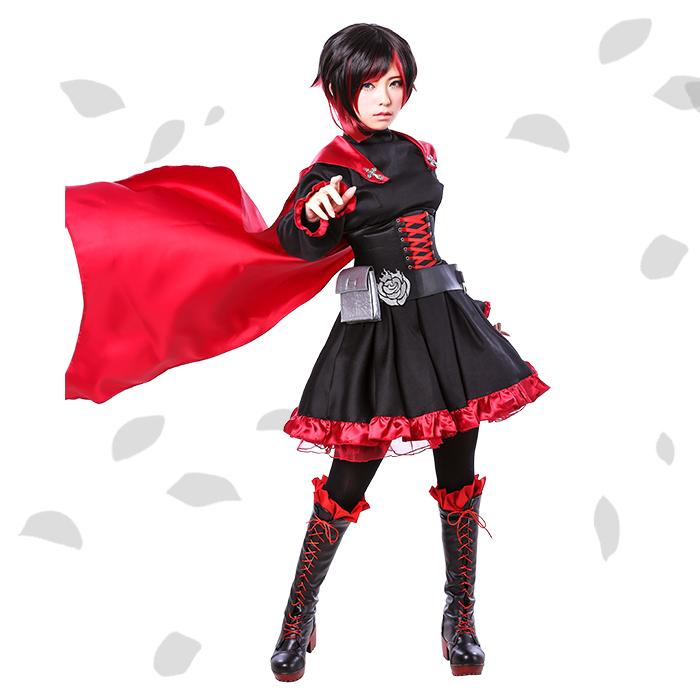 Ruby Rose Rwby Dress Rwby Ruby Rose Cosplay Costume