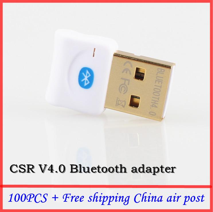100pcs Free shipping 4.0 Mini USB Bluetooth adapter dongle Laptop PC Bluetooth Cellephone Headset CSR8510 v4.0 bluetooth dongle(China (Mainland))