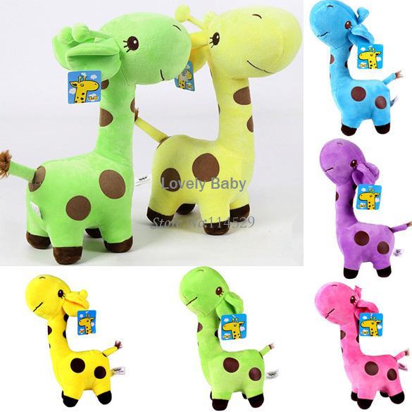 "New Hot Kids Baby Super Cute Giraffe Plush Doll Stuffed Toy 18cm/7.2"" Gift Doll With Suction b11 SV001401(China (Mainland))"