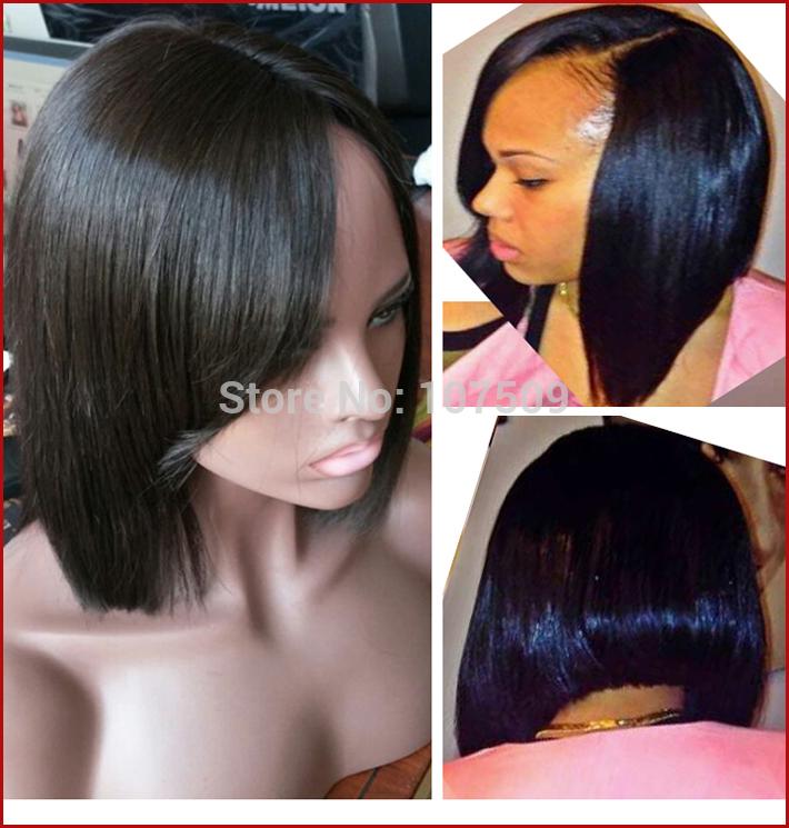 150-D-Lace-Front-Full-Lace-Short-Human-Hair-font-b-Wigs-b-font ...
