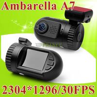 Original Mini 0803 Dash Cam Ambarella A7 Car Camera DVR 1296P Full HD Video Recorder 135 Degree Wide Angle+AR0330+H.264+WDR C3-2