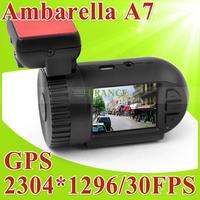 Big Promotion Orgininal Car Camera DVRs Mini 0803 DVR Video Recorder With Ambarella A7+GPS Logger+1296P Full HD+AR0330+H.264+WDR