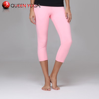 Best Sell Queen Yoga women's lycra pants on sale.Top quality Fitness/Sport/Running Cropped pant for Women/Lady/Girls