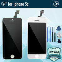 10pcs Original Replacement LCD Display Touch Digitizer Screen Assembly Complete For iphone 5c white or black + tools DHL free