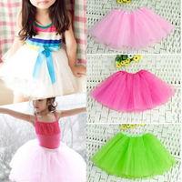 2015 New Girl Kids Tutu Toddler 3 Layer Different Colors Choose Mini Short Skirt Ballet Dancewear Party Costume Christmas Gift