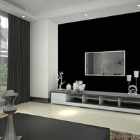 Free shipping Black matt wallpaper personality wall paper black papel de parede