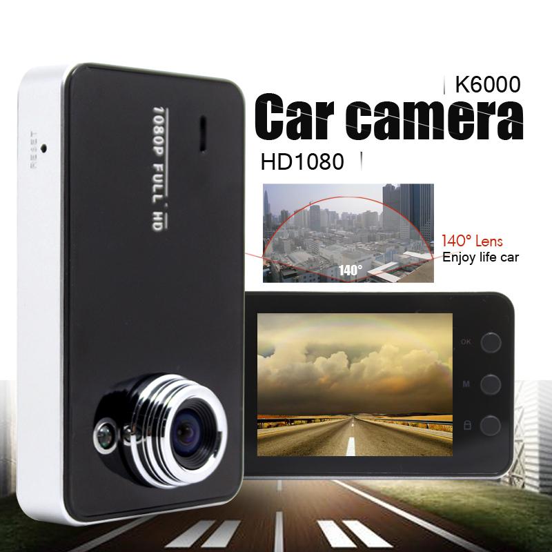 "100% Original K6000 NOVATEK Chipset 1080P Car DVR 2.7"" LCD Recorder Video Dashboard Vehicle Camera w/G-sensor(China (Mainland))"