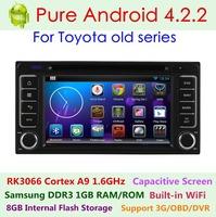 Pure Android 4.2.2 Car DVD For Toyota Camry 2002-2006 Corolla Prado RAV4 Capacitive 3G Wifi Dual Core 1.6G Radio GPS Navigation