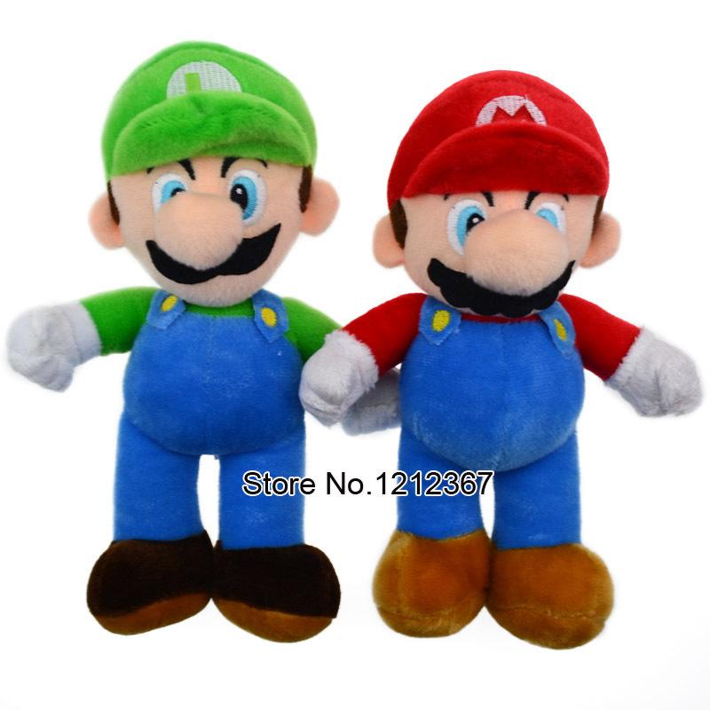 "1PCS High Quality Super Mario Soft Plush MARIO LUIGI 9""SUPER MARIO BROSS PLUSH DOLL Baby Toy Plush Toys / Free shipping(China (Mainland))"