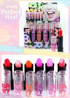6 pcs/lot fashion sexey baby lips pink ruby woo orange lipstick