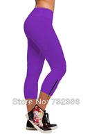 2014 new cardio slim fashion dancing sportswear tights high waisted trouser fitness yoga sports capris threequarter shorts