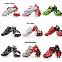 Bicycle shoes for Road Racing and Mountain Racing Athletic Shoes Mens MTB Cycling Shoes Carbon soles with clips racing