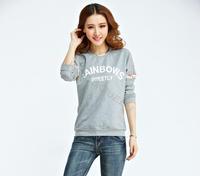 Women's Outerwear Long Johns Long-Sleeve Hoodies Sweatshirt Loose Female Casual Wear #12 18246
