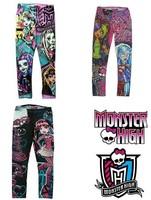 Free shipping! Monster High leggings girl girls children legging leggings pants trousers 8 pcs/lot