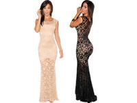 Two-toned Sexy Lined prom mermaid dress party evening elegant  2014  long lace evening gown vestidos de festa vestido longo