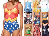 Sexy Bikini SUPERMAN WONDER WOMAN CAPE SUIT ELK WORLD FLAGS - CANADA WESTEROS WIN OR DIE  SWIMSUIT Digital Print Swimwear Women