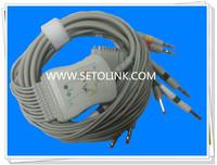 NIHON KOHDEN BANANA 4.0 ,IEC STANDARD ECG CABLE ,10 LEADWIRES BANANA 4.0 END