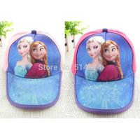 1piece 2 styles cartoon anna elsa princess fashion child hats baseball cap hats kids Elsa sun caps hats
