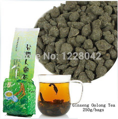 250g Free Shipping Famous Health Care Tea Taiwan Dong ding Ginseng Oolong Tea Ginseng Oolong ginseng