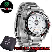 Army watch Weide mens sports watch special waterproof luminous Dual Time Dial LED Digital Quartz Alarm wristwatches
