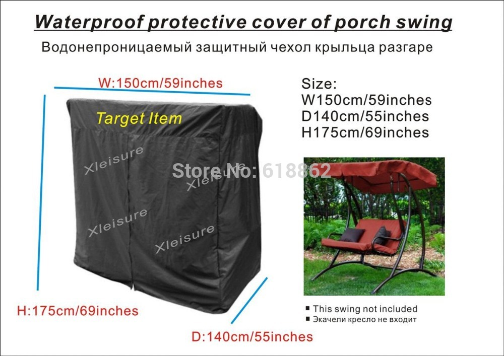 Porch swing Cover,Two seater swing chair cover ,Furniture Cover,Long bar swing chair cover for free shipping(China (Mainland))